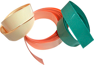 Colored shrink sleeve from PVC film