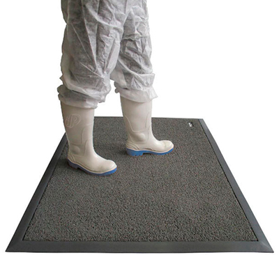 Grey disinfecting rugs